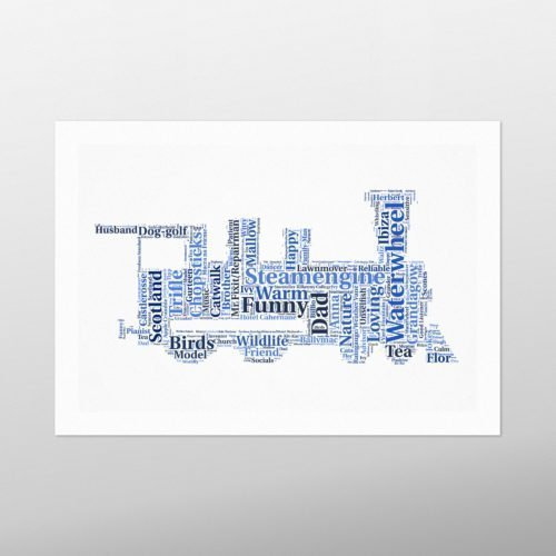 Train | wordbird.ie | Word Art Prints