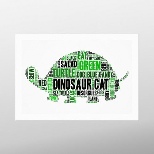 Turtle | wordbird.ie | Irish Word Art Prints