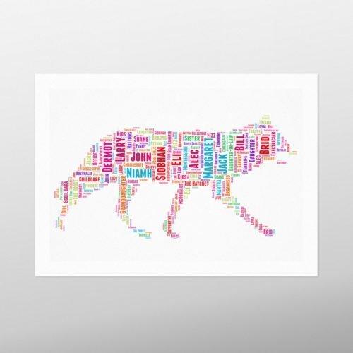 Walking Cat | wordbird.ie | Irish Word Art Prints