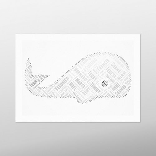 Whale | wordbird.ie | Word Art Ideas