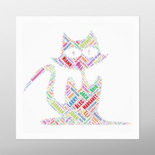 Witches Cat | wordbird.ie | Word Art Design