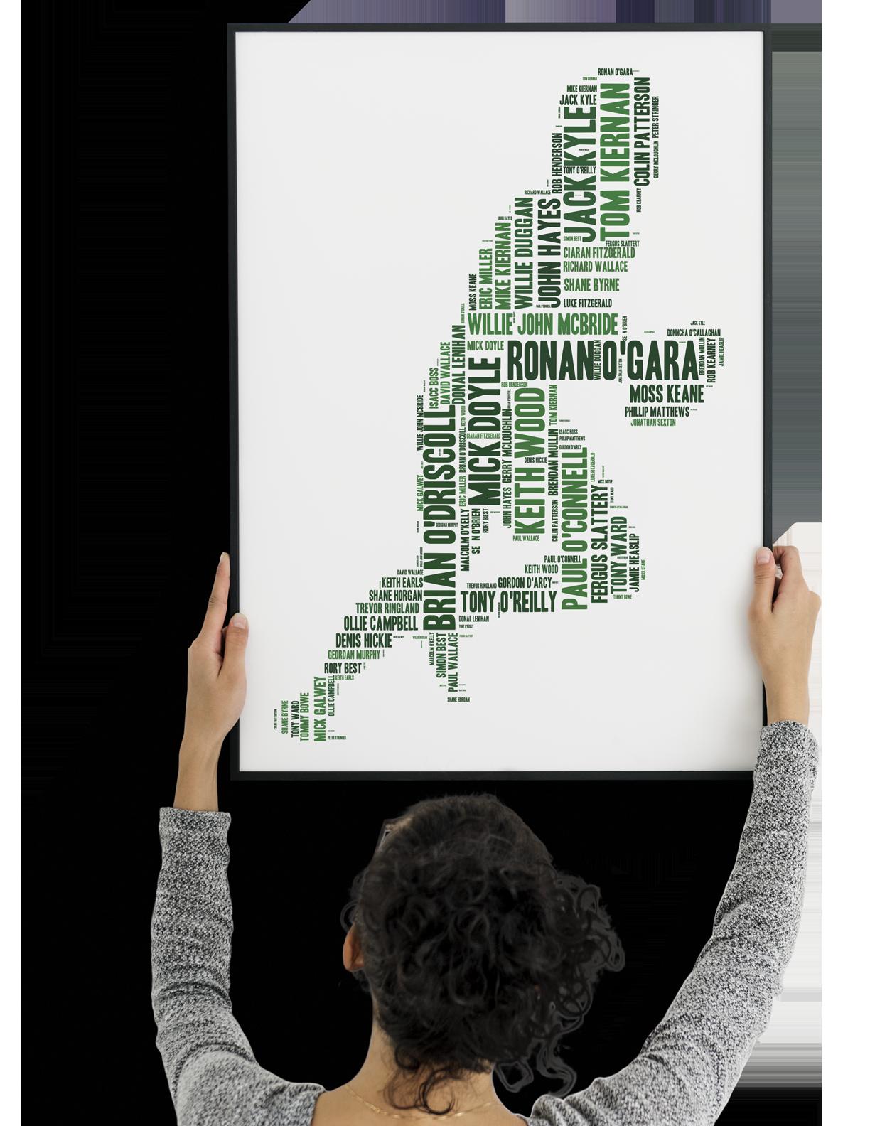Poster | Rugby Greatest | wordbird.ie | Word Art Prints