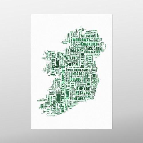 Irish Slang Map | wordbird.ie | Irish Gifts